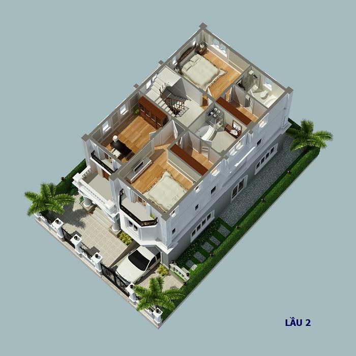 Biệt thự đơn lập Cityland Garden Hills tầng 2