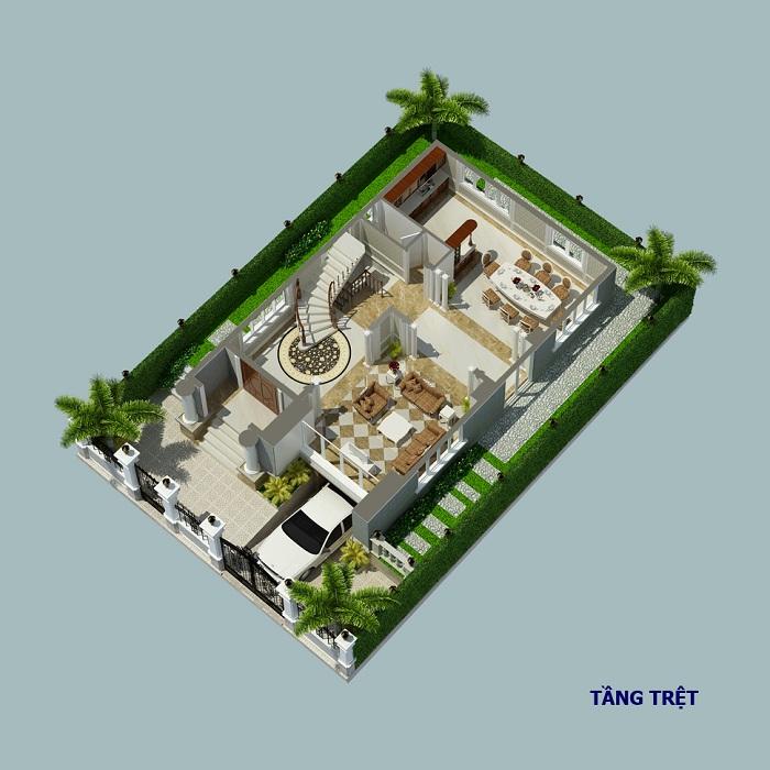 Biệt thự đơn lập Cityland Garden Hills tầng trệt