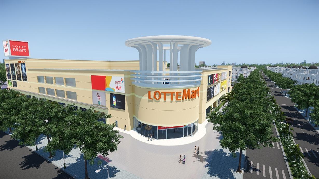 Siêu thị lotte mart dự án Cityland Park Hills