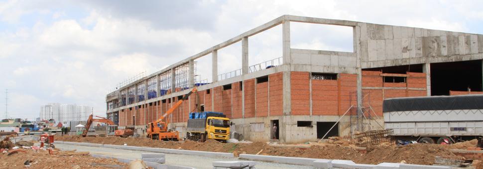 Sie6uthi5 Emart hàn quốc đang hoàn thiện tại Cityland Garden Hills