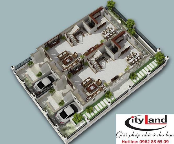 Thiết kế nhà phố cityland garden hills